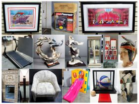 montage of paintings, figurines and more