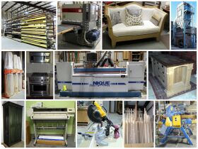 montage of wood cutting equipment