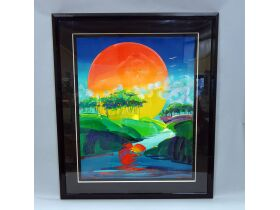 "Peter Max ""Without Borders"" painting"