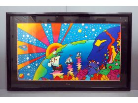 "Peter Max ""Discovery 1492-1992"" painting"