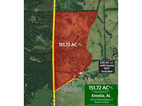 Emelle, Alabama Bankruptcy Real Estate Auction 151.72± Acres & Residence on 1.02± Acres featured photo 1