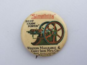 The Schnakenberg Farm Machinery Advertising Celluloid Pin-Back Button, Token & Stick-Pin Collection featured photo 1
