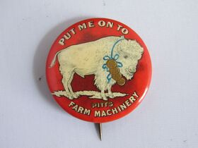 The Schnakenberg Farm Machinery Advertising Celluloid Pin-Back Button, Token & Stick-Pin Collection featured photo 8