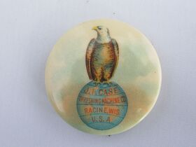 The Schnakenberg Farm Machinery Advertising Celluloid Pin-Back Button, Token & Stick-Pin Collection featured photo 11