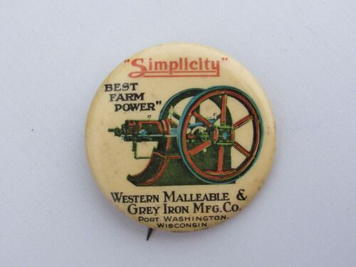 The Schnakenberg Farm Machinery Advertising Celluloid Pin-Back Button, Token & Stick-Pin Collection featured photo