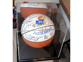 KU Autographed Basketball Signed By Roy Williams A
