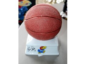 ceramic 7.5 inch basketball bank signed by Bill Se
