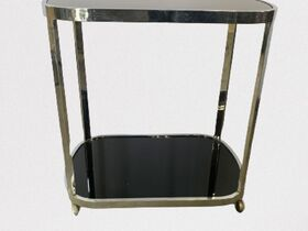 Chromeleg bar cart