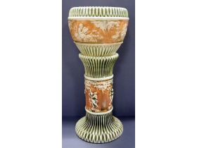 Roseville Pottery Donatello Pattern Jardiniere And