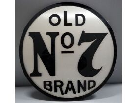 Old No. 7 brand brushed metal and acrylic wall han