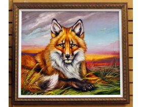 "Martin Katon ""North American Red Fox"" Canvas Gicle"