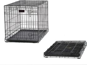 "Lot #: 127, 48"" iCrate Double Door Dog Crate"