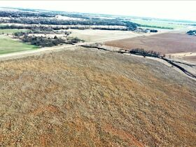 155 ACRES LOCATED SOUTH OF ARGONIA KS   126.2 AC TILLABLE   28.9 AC TAME GRASS   NO GROWING CROP featured photo 3