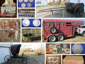Valuable Coins, Farm Equipment, Stock Trailer, Horse Drawn Buggy & Cart And More! featured photo 1