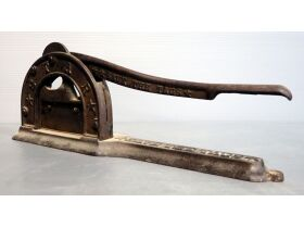 Antique Save The Stars Cast Iron Tobacco Cutter