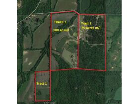 175 Acres offered in 2 tracts  with lake, 3 ponds, home place, county water available, 2 wells,  barns, outbuildings, fence. featured photo 3