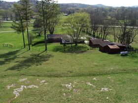 45+/- Acres Offered in Tracts - 4 BR, 3 BA One Level Home - Barns, Outbuildings, Pond, Creek - Auction July 17th featured photo 3