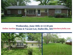 Home & Vacant Lot Auction - 208 Boone Ct., Hallsville, MO featured photo 1