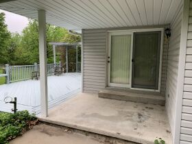 Covered patio and deck