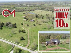 127+/- Acres Offered in Tracts - 4 BR, 4.5 BA Custom Home with Barn, Pond, Open Pasture & Mature Hardwoods - AUCTION July 10th featured photo 1