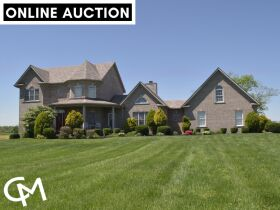 BEAUTIFUL 5 BED, 4.5 BATH HOME W/BASEMENT ON 44+/- ACRES WITH POND - ONLINE AUCTION - Shelbyville, KY featured photo 1