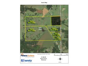 STILLWATER/PERKINS OKLAHOMA AREA HOME AND LAND AUCTION-100 Acres w/ 9 +/- acre lake and like new custom built home-PLUS John Deere Tractors and Acreage Equipment featured photo 3