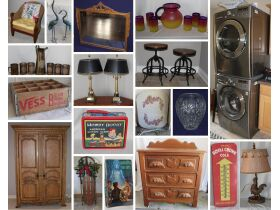 LG Stackable Washer & Dryer, Eclectic Furniture, Variety of Collectibles & More! featured photo 1