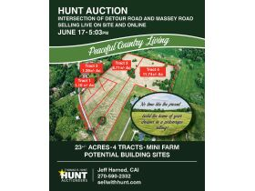 23 +/- ACRES SELLING IN 4 TRACTS; MINI FARM; POTENTIAL BUILDING SITES featured photo 1