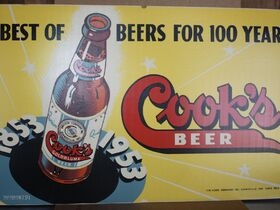Cooks Beer sign