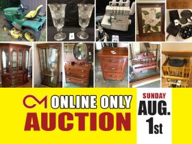 Antique Furniture - Lawn Mowers - Appliances and More! Online Auction ends August 1st featured photo 1