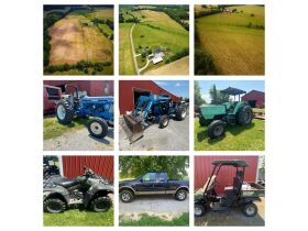 House, Garage, Barn and 46+/- Acres; Farm Equipment & Personal Property at Absolute Multi-Par Auction featured photo 1