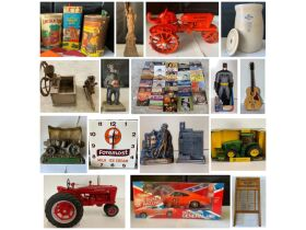 THE BILL HOLT ESTATE AUCTION #3, MORE TRACTORS, DIE CAST CARS, VINTAGE METAL COIN BANKS, PRIMITIVE TOOLS, LINCOLN LOGS AND MORE TOYS! featured photo 3