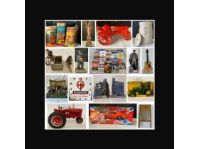 THE BILL HOLT ESTATE AUCTION #3, MORE TRACTORS, DIE CAST CARS, VINTAGE METAL COIN BANKS, PRIMITIVE TOOLS, LINCOLN LOGS AND MORE TOYS! featured photo 1