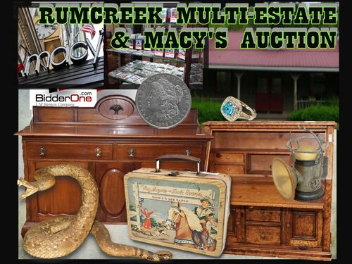RUM CREEK AUGUST MULTI-ESTATE & MACY'S STORE STOCK AUCTION featured photo