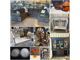 Furniture, Glassware, Antiques, Coins/Silver, Ammo & More at Absolute Online Auction featured photo 1