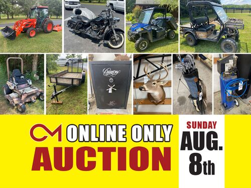 Kioti Tractor - Custom Harley Davidson - 2018 Polaris Ranger - Tools - Equipment - And More! Online Auction ends Aug 8th featured photo