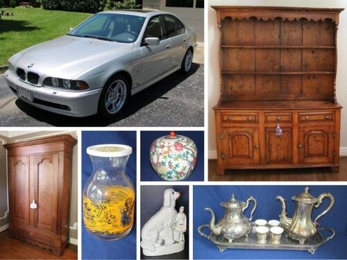 2001 BMW, Beautiful Home Furniture & Collectibles, Glassware, & More! featured photo