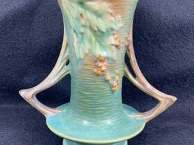 Glassware Auction Featuring Roseville Pottery, Van Briggle, Fenton and More.  Ending July 29th at 9am featured photo 1