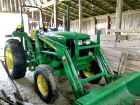 John Deere 5045 D Tractor, Storage Building, Farm Tools, Antiques, Furniture, Glassware and More! featured photo 3