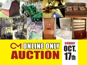 John Deere 5045 D Tractor, Storage Building, Farm Tools, Antiques, Furniture, Glassware and More! featured photo 1