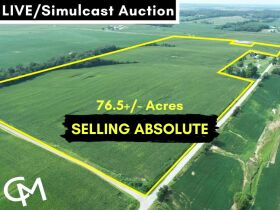 ABSOLUTE AUCTION 76.5 +/- ACRES IN BARTON TWP. - LIVE/Simulcast Auction FT. Branch, IN featured photo 1