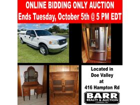 2007 FORD F150 XLT - ANTIQUES - COLLECTIBLES - FURNITURE - APPLIANCES - Online Bidding Ends TUESDAY, OCT. 5 @ 5:00 PM EDT featured photo 1