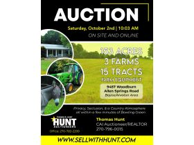 153 +/- ACRES, 3 FARMS, SELLING IN 15 TRACTS; TIMBER & FARM EQUIPMENT featured photo 1