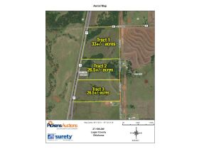 LOGAN COUNTY, OK -MULHALL AREA  LAND AUCTION - 86 +/- acres- W/ HWY 77 FRONTAGE-OFFERED IN CHOICE TRACTS AND COMBINATIONS featured photo 1
