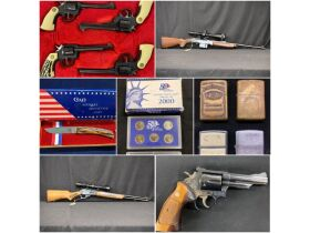 Firearms, Knives, Coins, Jewelry & Nascar Collectibles at Absolute Online Auction featured photo 1