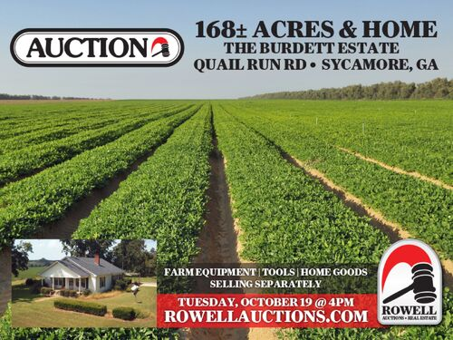 Estate Auction | 168 ± Acres & Home | Southern Turner Co. featured photo