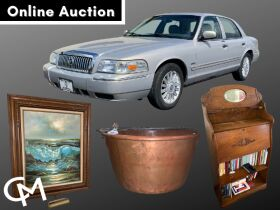'09 Mercury Grand Marquis LS, Furniture, Antiques, Tools, & Household Misc. Online Auction - Mt. Vernon, IN featured photo 1