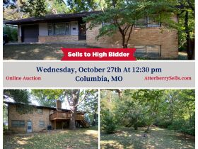 2,100 Sq. Ft. Ranch Style Home & 2 1/2 Ac. Wooded Bluff Lot With N. Garth Ave. Frontage, Offered Separately at Absolute Auction, 105 W. Thurman St., Columbia, MO featured photo 1