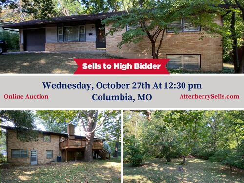 2,100 Sq. Ft. Ranch Style Home & 2 1/2 Ac. Wooded Bluff Lot With N. Garth Ave. Frontage, Offered Separately at Absolute Auction, 105 W. Thurman St., Columbia, MO featured photo