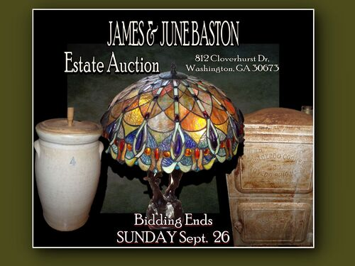 ESTATE AUCTION OF JAMES & JUNE BASTON SUNDAY, SEPT. 26th On Site featured photo